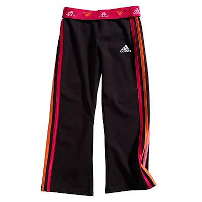 adidas Side-Stripe Workout Pants - Girls 4-6x