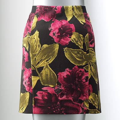 Simply Vera Vera Wang Floral Ponte Pencil Skirt