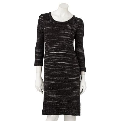 Apt. 9 Lurex Striped Sweaterdress