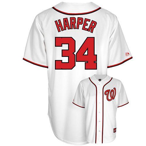 buy popular 7697b e7458 Men's Majestic Washington Nationals Bryce Harper Jersey