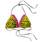 Mudd Animal Triangle Bikini Top