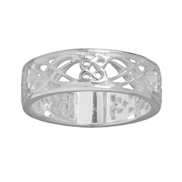 Silver Plated Filigree Ring