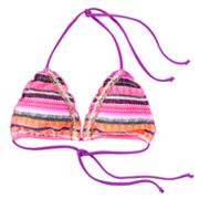 Mudd Striped Triangle Bikini Top