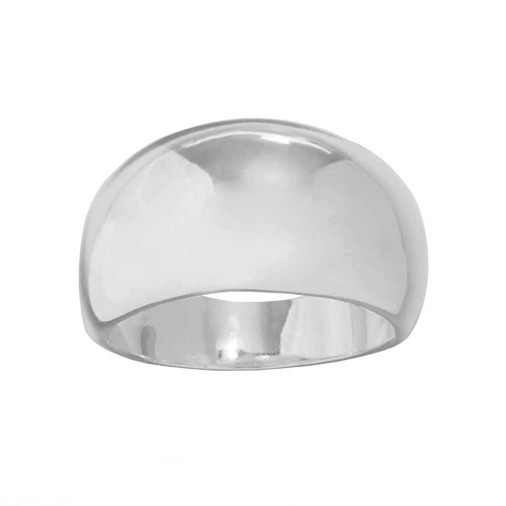 Silver Plated Dome Ring