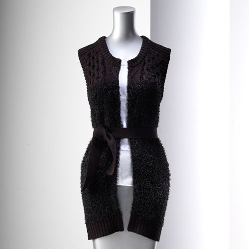 Women's Simply Vera Vera Wang Cable-Knit Sweater Vest