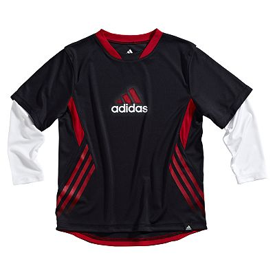 adidas J.V. Tech Mock-Layer Tee - Boys 4-7x