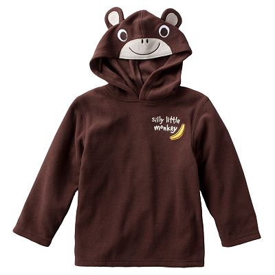 Jumping Beans Monkey Microfleece Hoodie - Toddler
