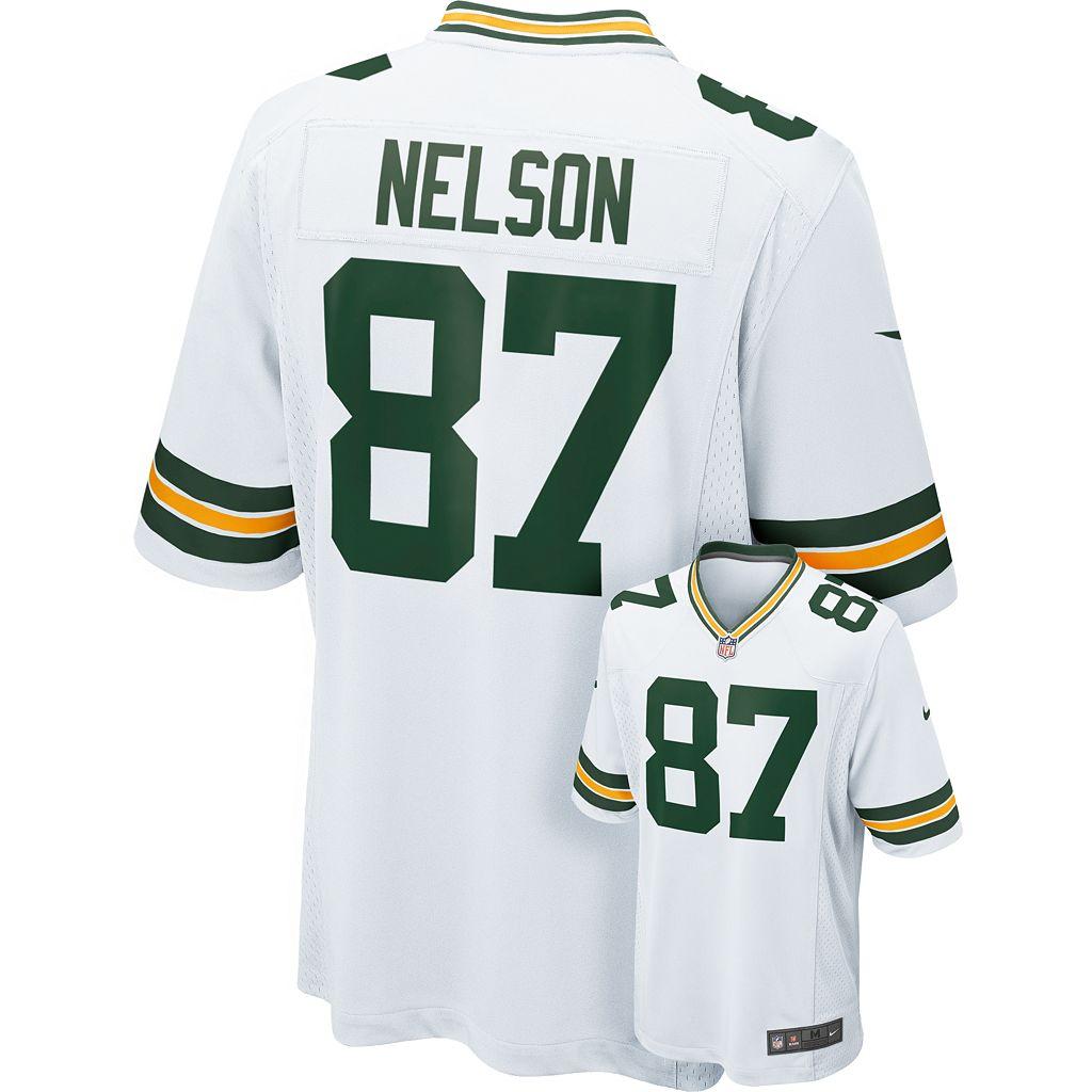 Nike Green Bay Packers Jordy Nelson Game NFL Replica Jersey - Men
