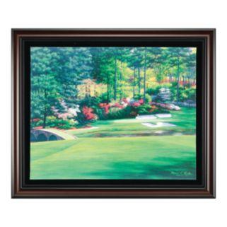 Augusta 12 Golden Bell Framed Canvas