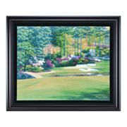 Augusta 12 Golden Bell Framed Canvas