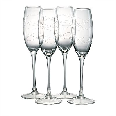 Artland Currents 4-pc. Champagne Flute Set