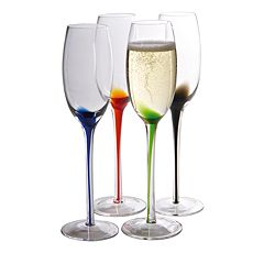 Artland Splash 4 pc Champagne Flute Set