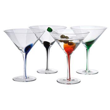 Artland Splash 4-pc. Martini Glass Set