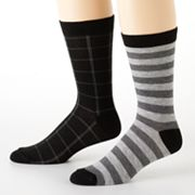 2-pk. Checked Crew Socks