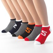 6-pk. Number Shortie Socks