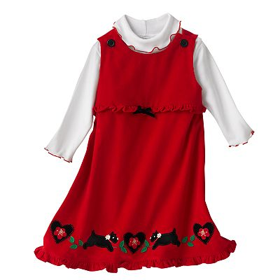 Sophie Rose Scottie Dog Corduroy Jumper and Bodysuit Set - Baby
