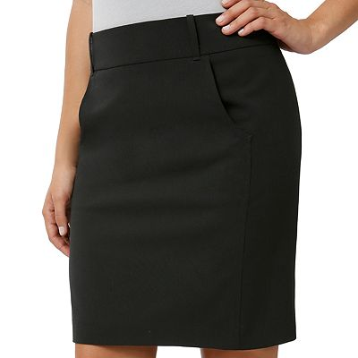 daisy fuentes Solid Pencil Skirt