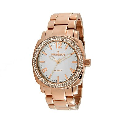 Peugeot Rose Gold Tone Crystal Watch - Made with Swarovski Elements - 7075RG - Women
