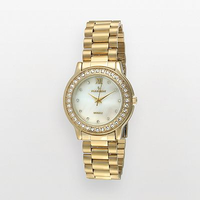 Peugeot Gold Tone Crystal and Mother-of-Pearl Watch - Made with Swarovski Elements - 7076G - Women
