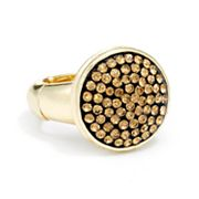 Jennifer Lopez Gold Tone Simulated Crystal Stretch Ring
