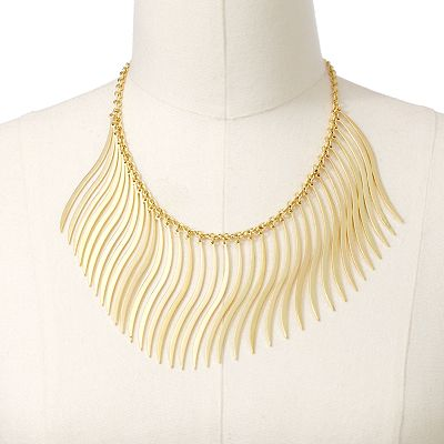Jennifer Lopez Gold Tone Wavy Necklace
