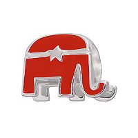 Individuality Beads Sterling Silver Republican Elephant Bead