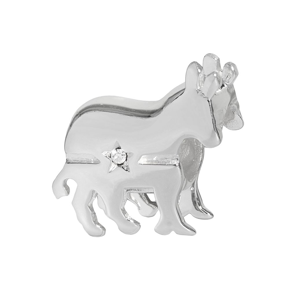 Individuality Beads Sterling Silver Crystal Democratic Donkey Bead