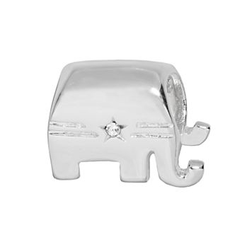 Individuality Beads Sterling Silver Crystal Republican Elephant Bead