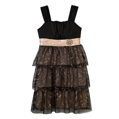 IZ Amy Byer Emma Glitter Dress - Girls 7-16