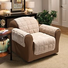 Jeffrey Home Plush Solid Chair Furniture Cover Slipcover