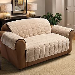 Jeffrey Home Plush Loveseat Protector