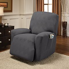 Jeffrey Home Stretch Optic Recliner Slipcover