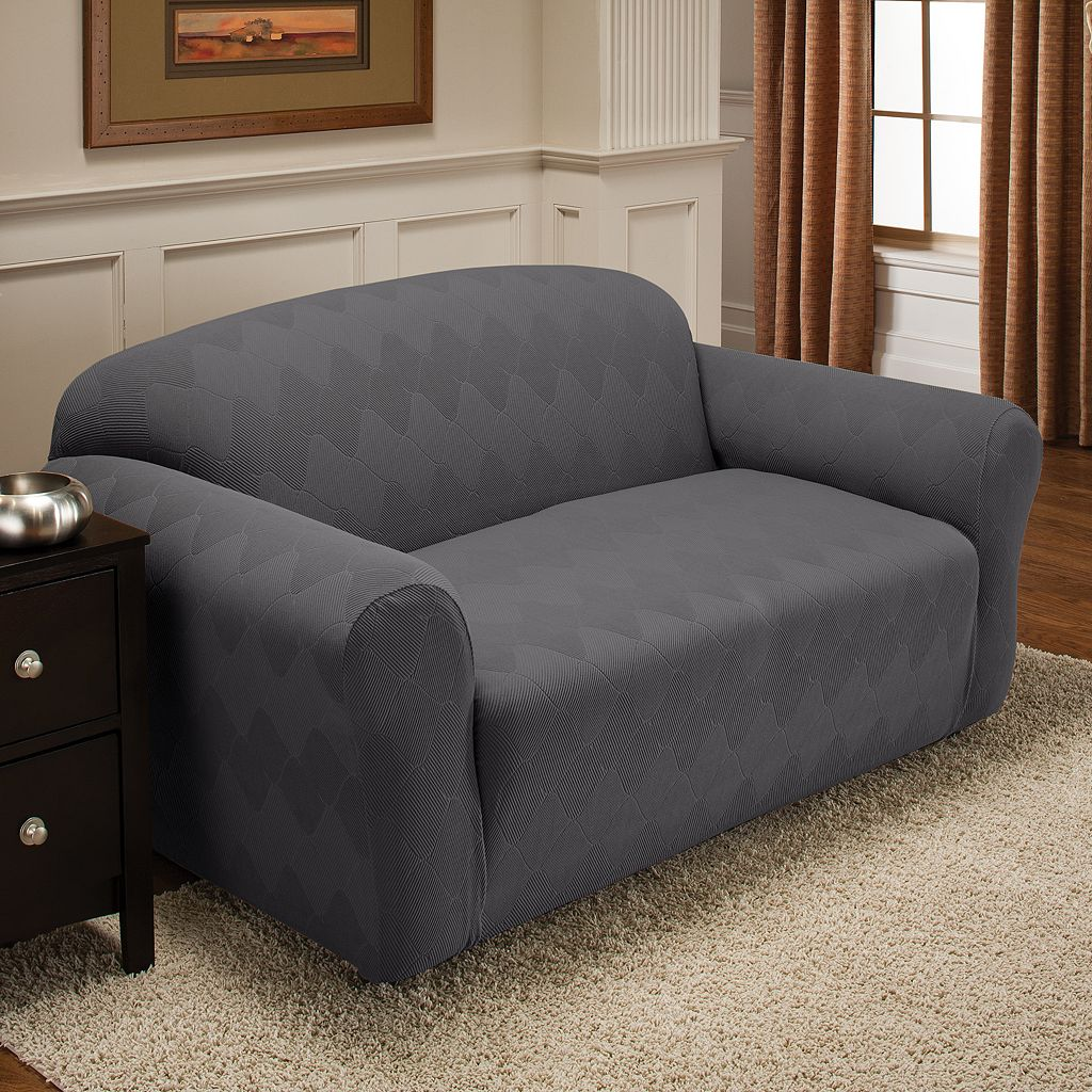 Optics Stretch Sofa Slipcover