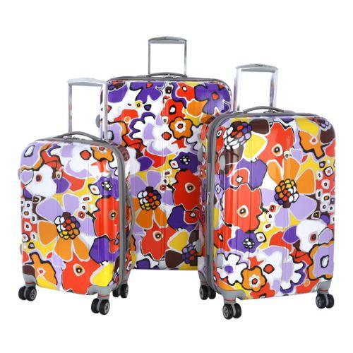 Olympia Luggage, 3-pc. Blossom Expandable Luggage Set