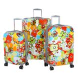 Olympia Blossom 3 pc Luggage Set