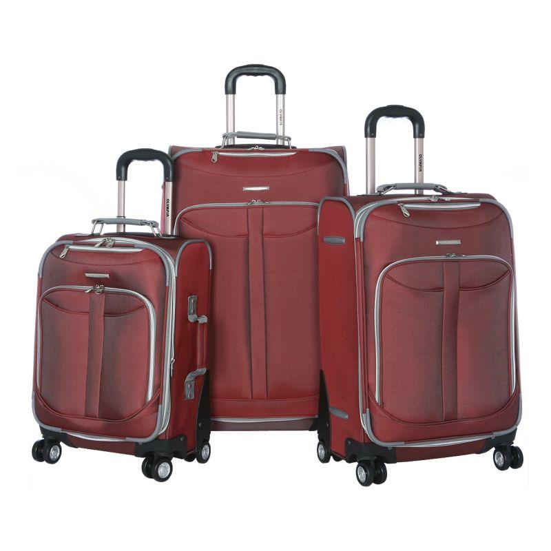 Olympia Tuscany 3-Piece Luggage Set, Red