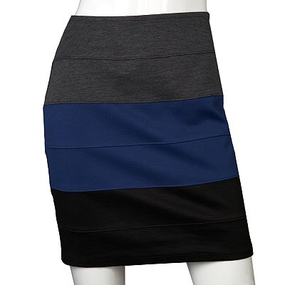 IZ Byer California Colorblock Skirt - Juniors