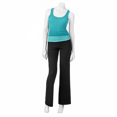 SO Ribbed Tank and Striped Yoga Pants Set - Juniors