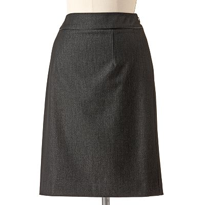Dana Buchman Solid Pencil Skirt