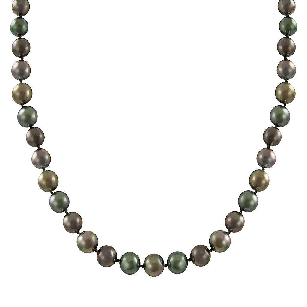 14k White Gold Tahitian Cultured Pearl Necklace