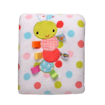 Taggies Polka-Dot Microfleece Blanket