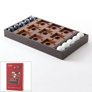 Chaps Wood and Marble Tic-Tac-Toe Game