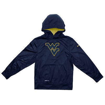 Nike West Virginia Mountaineers Therma-FIT Hoodie - Boys 4-7