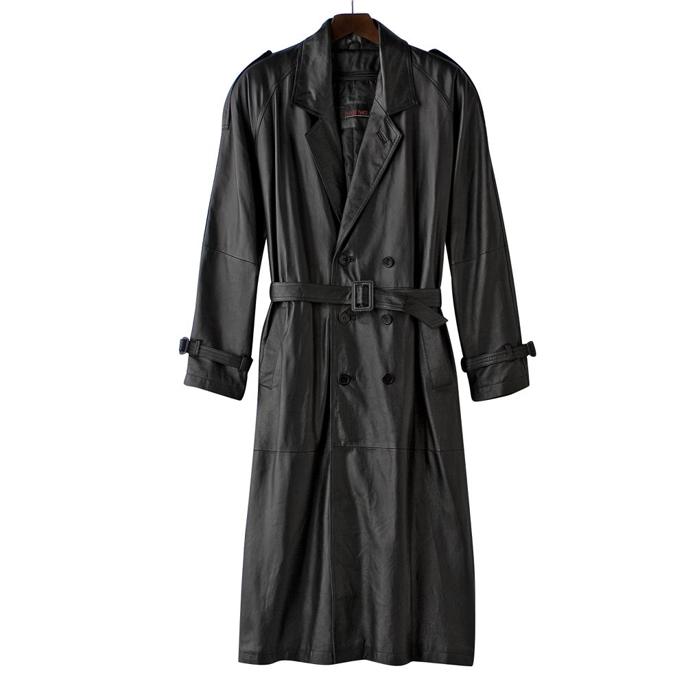 Big & Tall Excelled Nappa Leather Trench Coat