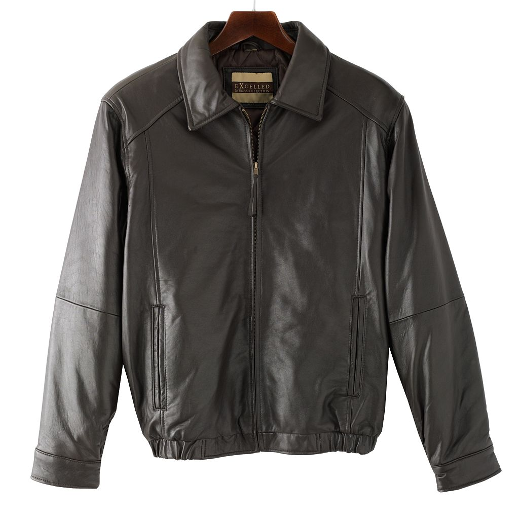 Big & Tall Excelled Leather Bomber Jacket