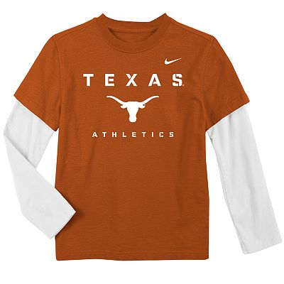 Nike Texas Longhorns Mock-Layer Dri-FIT Tee - Boys 4-7