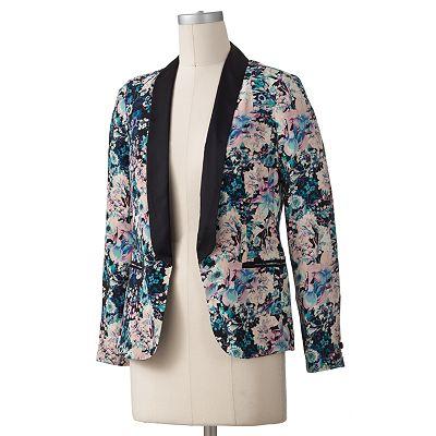 Kohls LC Printed Floral blazer