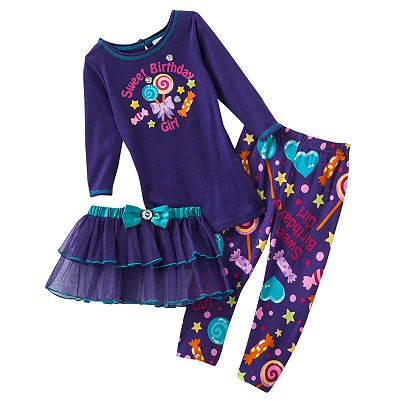 Youngland Birthday Tutu Set - Toddler