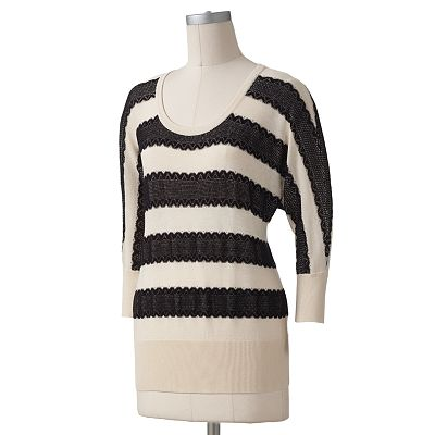 LC Lauren Conrad Crochet Sweater