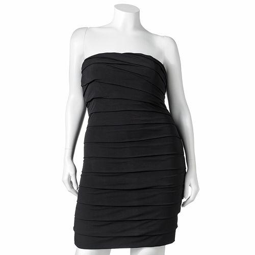 Speechless Tiered Tube Dress - Juniors' Plus $ 39.20